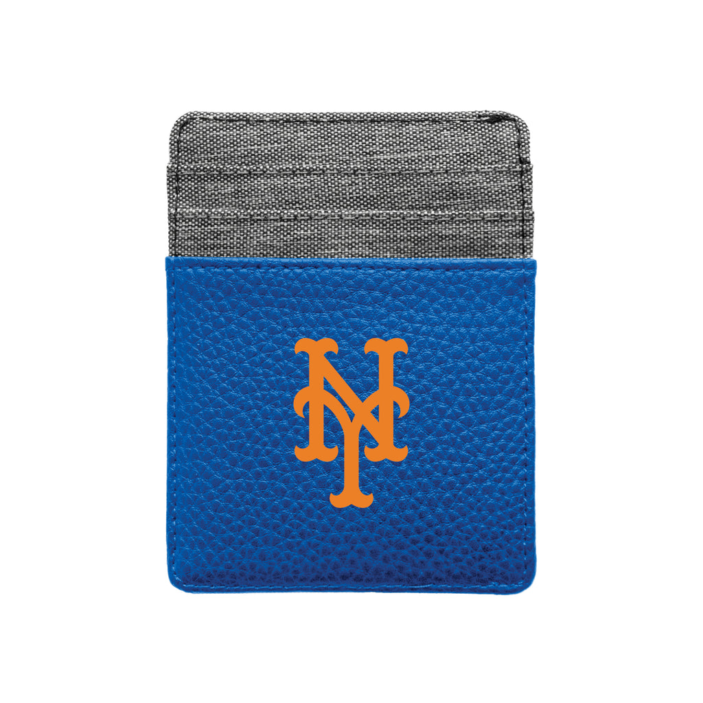 New York Mets Pebble Front Pocket Wallet