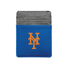 Load image into Gallery viewer, New York Mets Pebble Front Pocket Wallet