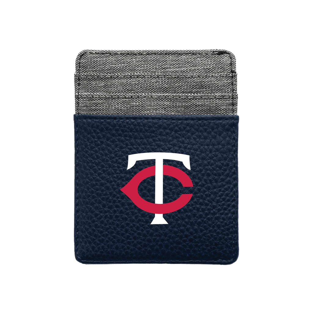 Minnesota Twins Pebble Front Pocket Wallet