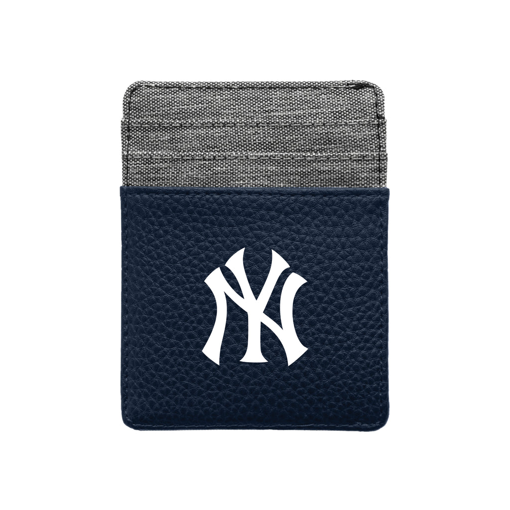 New York Yankees Pebble Front Pocket Wallet