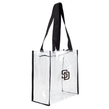 Load image into Gallery viewer, San Diego Padres Clear Square Stadium Tote