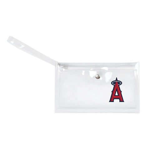 Los Angeles Angels of Anaheim Clear Ticket Wristlet