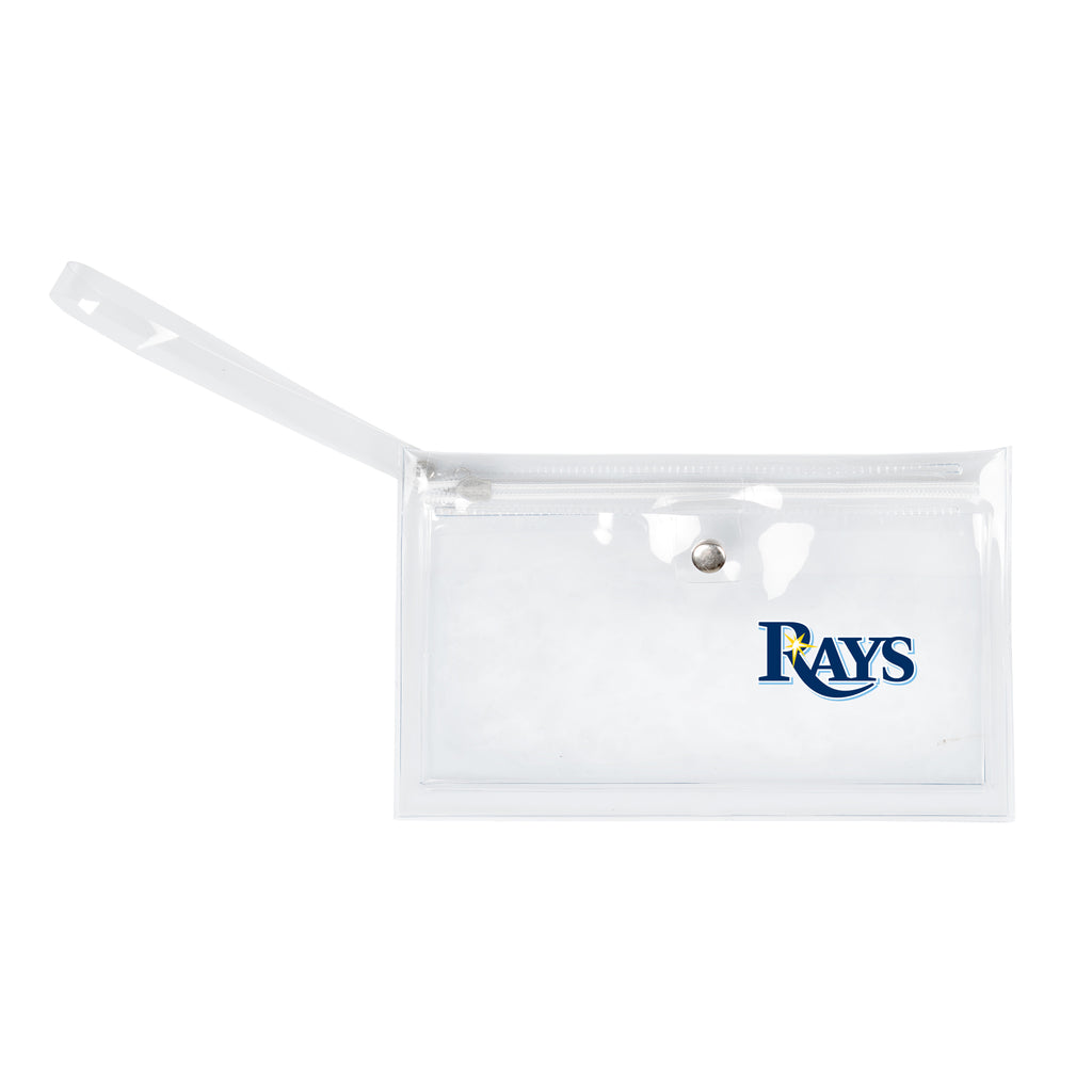 Tampa Bay Rays Clear Ticket Wristlet