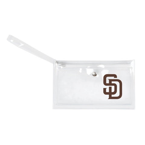 San Diego Padres Clear Ticket Wristlet