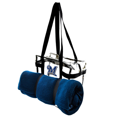 Milwaukee Brewers Clear Tote Along