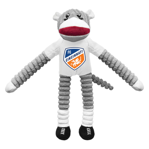 FC Cincinnati Team Sock Monkey Pet Toy