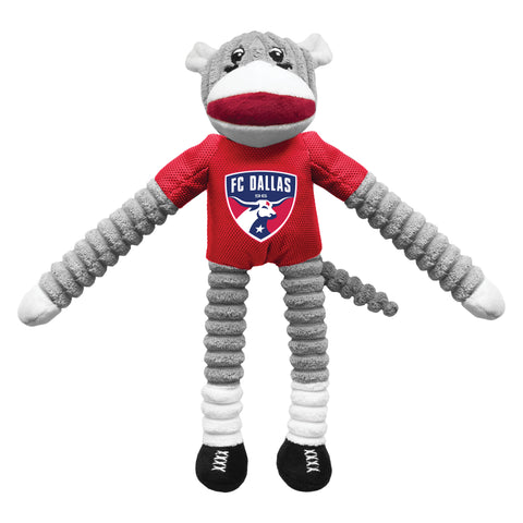 FC Dallas Team Sock Monkey Pet Toy