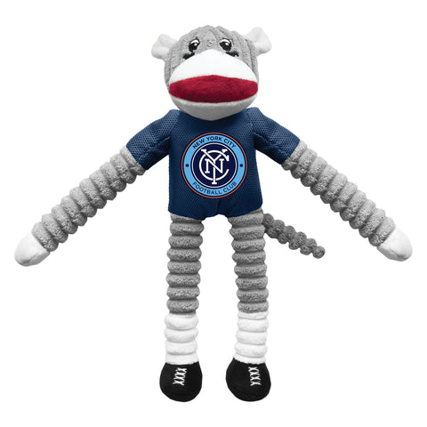 New York City FC Team Sock Monkey Pet Toy