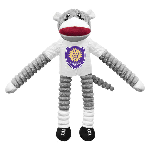 Orlando City SC Team Sock Monkey Pet Toy