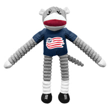 Load image into Gallery viewer, New England Revolution Team Sock Monkey Pet Toy