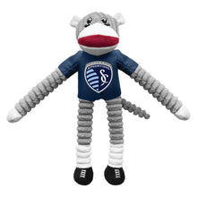 Load image into Gallery viewer, Sporting Kansas City Team Sock Monkey Pet Toy