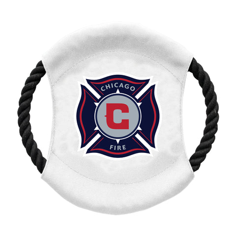 Chicago Fire Soccer Club Team Flying Disc Pet Toy