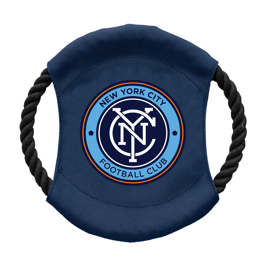 New York City FC Team Flying Disc Pet Toy