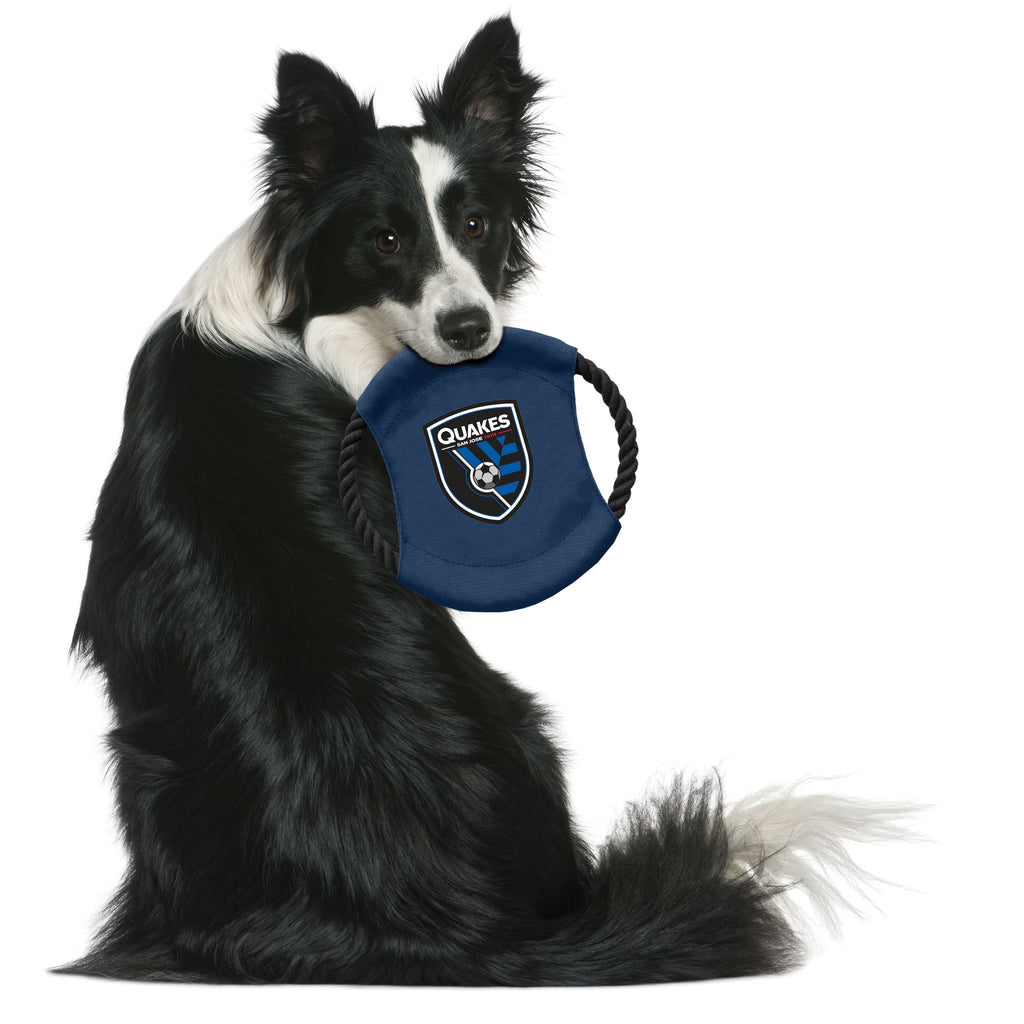 San Jose Earthquakes Team Flying Disc Pet Toy