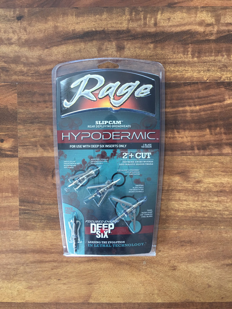 Rage Hypodermic Broadheads - Deep Six Version