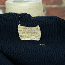 Vintage Unisex 40s Xs Small Black Wool Military Sweater