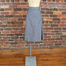 Vintage Womens 50s L XL Salt and Pepper Chambray Selvedge Side Zip Skirt Skort