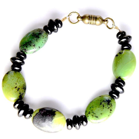 Green apple chrysoprase bracelet