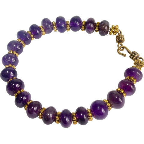 Amethyst and gold bracelet