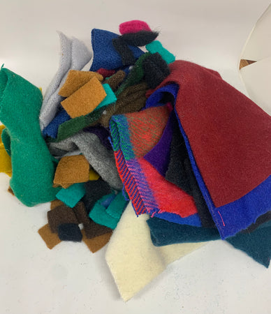 WOOL SCRAP BAGS FOR APPLIQUE AND MORE