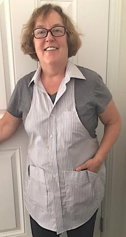 #117 UPCYCLED (SHIRT) APRON