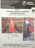 #501 YOUTH'S BACK PACK/VEST