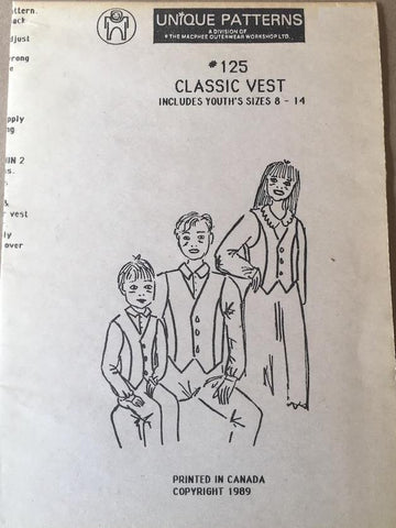 #125 CLASSIC VEST YOUTH