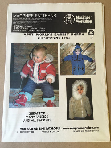 #507 WORLD'S EASIEST PARKA KIDS