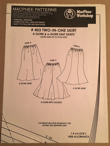 #403 TWO-IN-ONE SKIRT