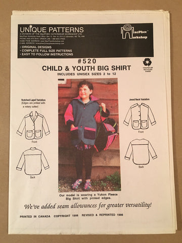 #520 BIG SHIRT - CHILD & YOUTH