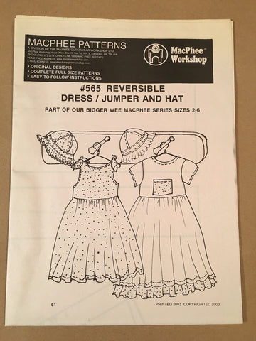 #565 REVERSIBLE DRESS/JUMPER AND HAT