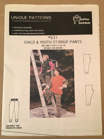 #631 STIRRUP PANTS- Child and Youth