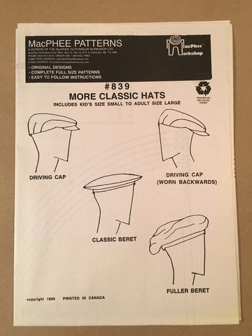 #839 TRADITIONAL TOPPERS / MORE CLASSIC HATS
