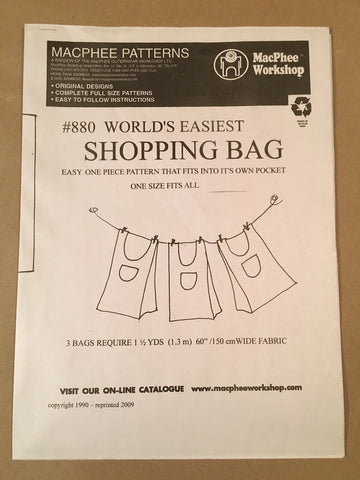 #880 WORLD'S EASIEST SHOPPING BAG