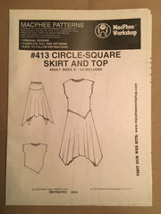 #413 CIRCLE-SQUARE SKIRT & TOP