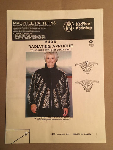 #439 RADIATING APPLIQUE