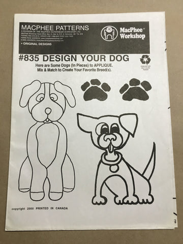 #835 DESIGN YOUR DOG