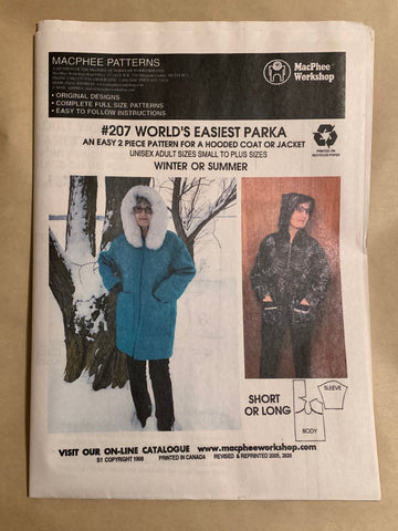 #207 WORLD'S EASIEST PARKA