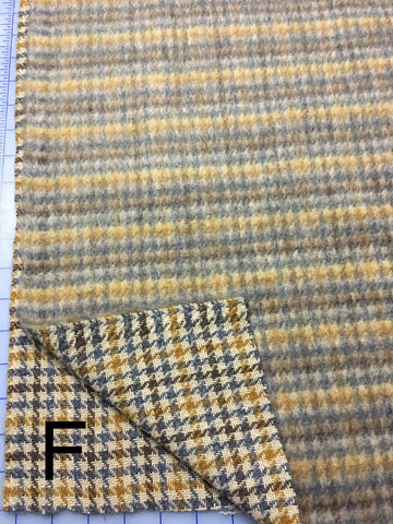 Novelty Wool - Checked Natural Tones