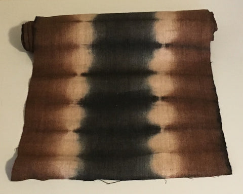 Black Brown Print - Hemp Fabric