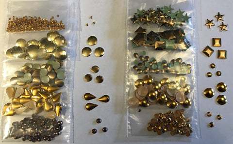 Metals - 10 packs (500 metals) - Gold/Copper/Brown