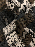 Black Brown Geo poly/spandex print