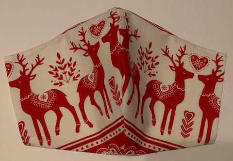 A Very Scandinavian Christmas Reindeer- FACE MASK