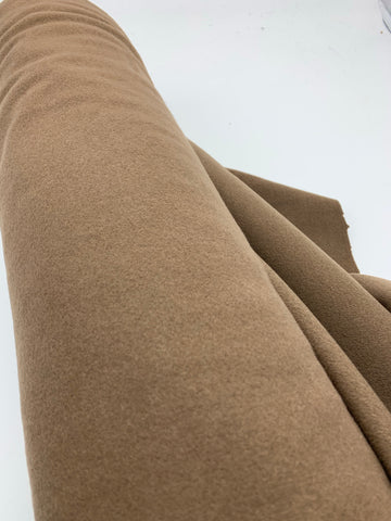Melton wool velour-  Med Brown