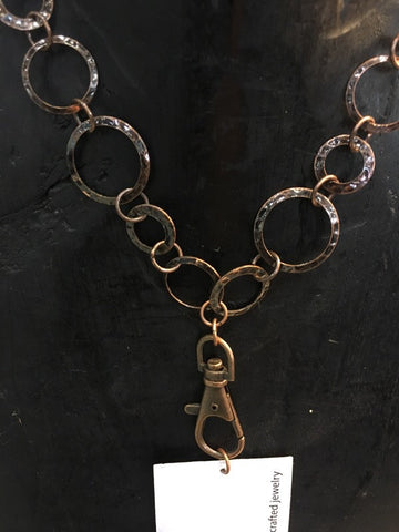 Breakaway Lanyard - Hammered Antique Copper