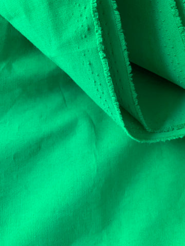 Poly Cotton All Weather Poplin - KELLY GREEN