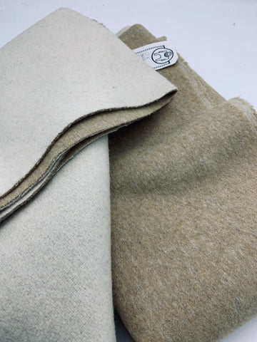 Double Faced Wool - Cream/Beige