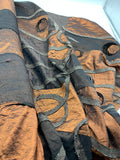 Novelty Appliqued Irridescent Taffeta - BROWNS