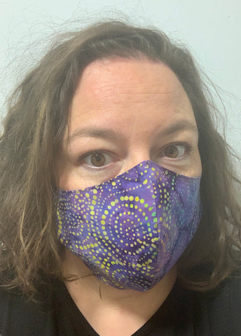 Purple Batik Multi - FACE MASK