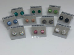 Sparkle Stud Earrings (many colors and 2 sizes available)